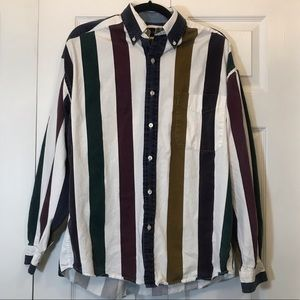 Structure VTG men's striped button down shirt